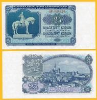 Czechoslovakia 25 Korun P-84a 1953 UNC Banknote - Cecoslovacchia