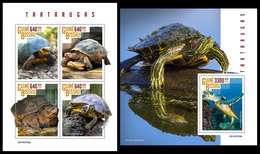 GUINEA BISSAU 2019 - Turtles. M/S + S/S. Official Issue - Guinea-Bissau