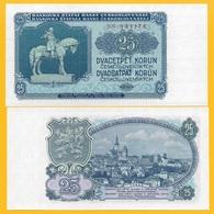 Czechoslovakia 25 Korun P-84b 1953 UNC Banknote - Tchécoslovaquie