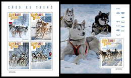 GUINEA BISSAU 2019 - Sledge Dogs. M/S + S/S. Official Issue - Guinea-Bissau