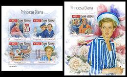 GUINEA BISSAU 2019 - Princess Diana. M/S + S/S. Official Issue - Guinea-Bissau