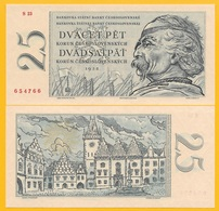 Czechoslovakia 25 Korun P-87 1958 UNC Banknote - Czechoslovakia