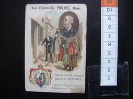 Chromo Ancienne PHILBEE Dijon Pains Epices Vintage OSCAR II Suede Norvege Bernadotte Pau - Chromos