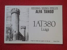 POSTAL TYPE POST CARD QSL RADIOAFICIONADOS RADIO AMATEUR GRUPPO ITALIA ALFA TANGO CASTELLO DI IVREA CASTILLO DE PIEMONTE - Sin Clasificación