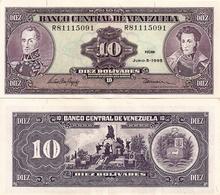 VENEZUELA       10 Bolívares       P-61d       5.6.1995       UNC - Venezuela