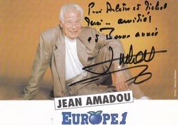 JEAN AMADOU - 1929-2011  - CARTE PHOTO - DEDICACEE.. - Artistes