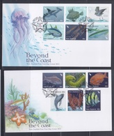 New Zealand 2011 Beyond The Coast, Fauna, Fishes, Bird 2xFDCs - Fishes