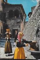 CASTEL DI SANGRO - COSTUMI D'ABRUZZO - VIAGGIATA  1970 - Costumi