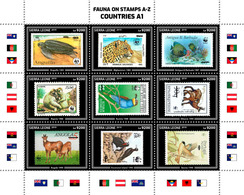 SIERRA LEONE 2019 - WWF Fauna On Stamps A1. Official Issue. - W.W.F.