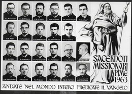 SACERDOTI MISSIONARI PIME 1963 - VIAGGIATA  1963 - Cristianesimo