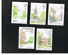 GRAN BRETAGNA (UNITED KINGDOM) -  SG 1124.1124 -  1980 LONDON LANDMARKS (COMPLET SET OF 5)     - USED - Usati