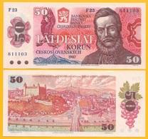 Czechoslovakia 50 Korun P-96a 1987 UNC Banknote - Czechoslovakia