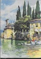 ALDO RAIMONDI - S. VIGILIO (LAGO DI GARDA) - VIAGGIATA DA FASANO DEL GARDA 1964 - ANNULLO CONALBI - Pittura & Quadri