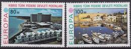 Türkisch-Zypern, 1977, 41/42, Europa: Landschaften. MNH ** - Zypern (Türkei)