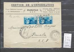 Congo - Cachet  De Brazzaville Avec Censure - 1944 - Marcophilie AEF - A.E.F. (1936-1958)