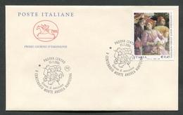 FDC ITALIA 2006 - CAVALLINO - ANNIVERSARIO SCOMPARSA ANDREA MANTEGNA - PADOVA - 348 - 6. 1946-.. Repubblica