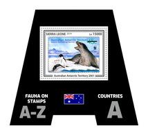 SIERRA LEONE 2019 - Fauna, AAT: Penguins. Official Issue. - Pinguïns & Vetganzen