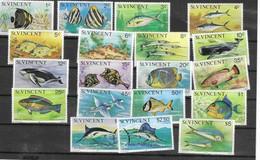 ST. VICENTE Nº 386 AL 404 - Fishes