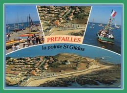 CP Préfailles Pointe St Gildas Multivues écrite TB - Préfailles