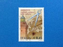 2004 ITALIA FRANCOBOLLO USATO STAMP USED - GENOVA CAPITALE EUROPEA DELLA CULTURA - - 2001-10: Usati
