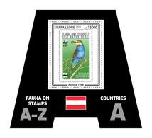 SIERRA LEONE 2019 - Fauna, Austria: Bee-eater, Bee. Official Issue. - Honingbijen