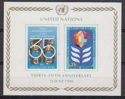 UNO NY 1980 35th Anniversary M/s ** Mnh (42398A) - New York - Hoofdkwartier Van De VN