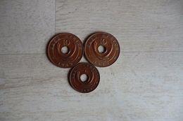 3 Monnaies De L'Afrique De L'est-2 De 10 Cents 1942 Et 1 De 5 Cents 1942 En Bronze George VI - British Colony