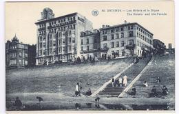 Ostend - Les Hotels Et La Digue - Hotels En Dijk -  Ed.  F. Walschaerts - Oostende