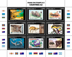 SIERRA LEONE 2019 - Birds, Fauna On Stamps A2. Official Issue. - Vogels