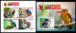 SIERRA LEONE 2019 - Kingfishers. M/S + S/S Official Issue. - Vogels