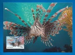 Australien 2014 , Things That Sting - Lionfish - Maximum Card - First Day 23 September 2014 - Maximumkarten (MC)