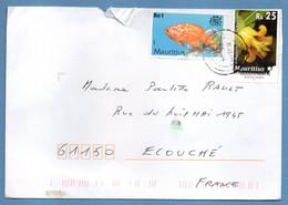 Lettre Mauritius TP Poisson Fish ïle Maurice - Maurice (1968-...)