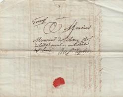 1784. VAUCLUSE. DE CADEROUSSE, D'ORANGE POUR ST ESPRIT GARD   /  4657 - Marcophilie (Lettres)