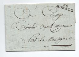 1794 - LETTRE Avec MP De MONACO - Monaco
