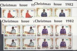 NAURU, 1982 XMAS 4 CNR BLOCKS 4 MNH - Nauru