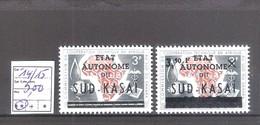 Sud-Kasaï  N° 14/15 ** MNH  Cote COB : 5,00 € - Sud-Kasaï