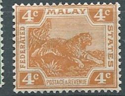 Etats Malais Fédérés   -  Yvert N° 58 *   - Bce 17505 - Federated Malay States