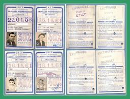 4 Cartes D'identité Familles Nombreuses S.N.C.F. Ouest Granville 1958 - 1961 - Other