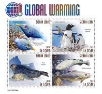 SIERRA LEONE 2019 - Global Warming, Seals. Official Issue. - Zeezoogdieren