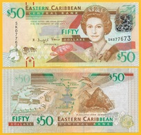 East Caribbean States 50 Dollars P-54a 2012 UNC Banknote - East Carribeans