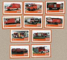 Privatpost -PostModern-  Feuerwehrautos Mit 10 Marken - Feuerwehr