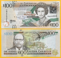 East Caribbean States 100 Dollars P-55a 2012 UNC Banknote - East Carribeans