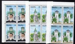 NAURU, 1977 XMAS 3 CNR BLOCKS 4 MNH - Nauru