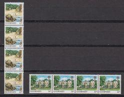 Guernsey 1988 Definitives Views Coil Stamps 2v Strip Of 4 ** Mnh (42399A) - Guernsey
