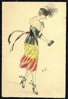 FEMME - CP - Jeune Femme En Robe Patriotique - Circulé - Circulated - Gelaufen - 1920. - Femmes