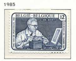 NB - [152462][2169] Belgique 1985, Journée Du Timbre, Jean De Bast, Graveur Et Peintre, SNC - Journée Du Timbre