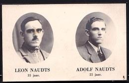 RESISTANCE - VERZET - DOODSBERICHT LEON & ADOLF NAUDTS ( Eksaarde - St Kruis Winkel ) - + CONCENTRATIEKAMP NEUENGAMME - Guerre 1939-45