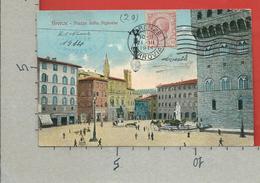 CARTOLINA VG ITALIA - FIRENZE - Piazza Della Signoria - 9 X 14 - ANN. 1914 Per La FRANCIA - Firenze