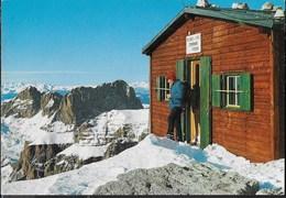 DOLOMITI - CAPANNA FASSA AL PIZ BOE' - TIMBRO DEL RIFUGIO - NUOVA - Alpinismo