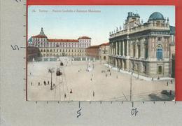 CARTOLINA VG ITALIA - TORINO - Piazza Castello E Palazzo Madama - 9 X 14 - ANN. 1914 Per La FRANCIA - Palazzo Madama